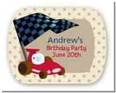 Go Kart - Personalized Birthday Party Rounded Corner Stickers