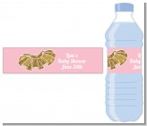 Gold Glitter Tutu - Personalized Baby Shower Water Bottle Labels