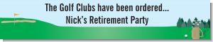 Golf - Personalized Retirement Party Banners