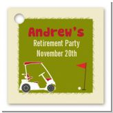 Golf Cart - Personalized Retirement Party Card Stock Favor Tags