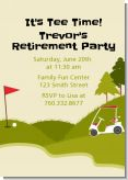 Golf Cart - Retirement Party Invitations