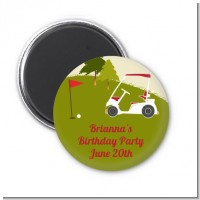 Golf Cart - Personalized Birthday Party Magnet Favors