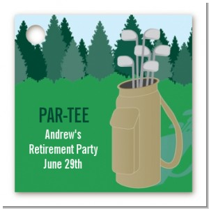 Golf - Personalized Retirement Party Card Stock Favor Tags
