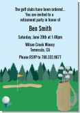 Golf - Retirement Party Invitations