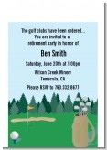 Golf - Retirement Party Petite Invitations