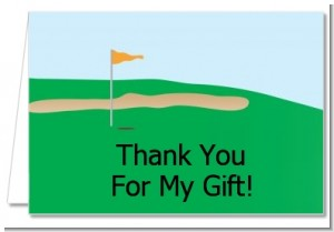 Golf - Retirement Party Thank You Cards