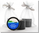 Gone Fishing - Birthday Party Black Candle Tin Favors