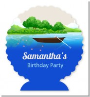 Gone Fishing - Personalized Birthday Party Centerpiece Stand