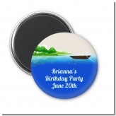 Gone Fishing - Personalized Birthday Party Magnet Favors