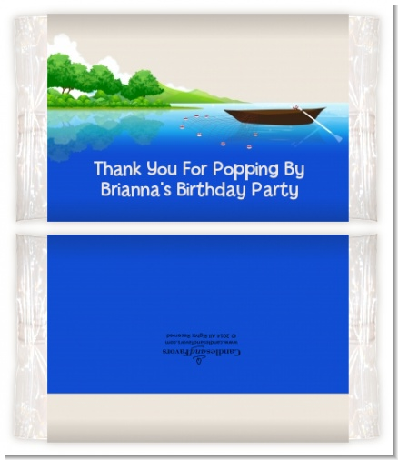 Gone Fishing - Personalized Popcorn Wrapper Birthday Party Favors