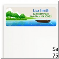 Gone Fishing - Retirement Party Return Address Labels