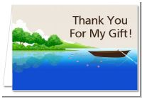 Gone Fishing - Birthday Party Thank You Cards