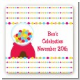 Gumball - Square Personalized Birthday Party Sticker Labels thumbnail