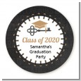 Grad Keys to Success - Round Personalized Graduation Party Sticker Labels thumbnail
