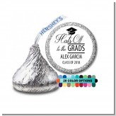 Hats Off To The Grad - Hershey Kiss Graduation Party Sticker Labels