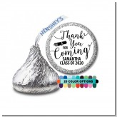 Thank You For Coming - Hershey Kiss Graduation Party Sticker Labels
