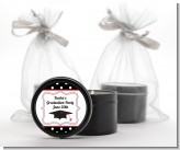 Graduation Cap Black & Red - Graduation Party Black Candle Tin Favors