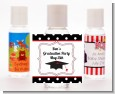 Graduation Cap Black & Red - Personalized Graduation Party Hand Sanitizers Favors thumbnail