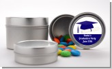 Graduation Cap Blue - Custom Graduation Party Favor Tins