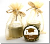 Graduation Cap Brown - Graduation Party Gold Tin Candle Favors