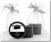 Graduation Cap - Graduation Party Black Candle Tin Favors