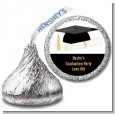Graduation Cap - Hershey Kiss Graduation Party Sticker Labels thumbnail