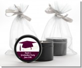 Graduation Cap Maroon - Graduation Party Black Candle Tin Favors
