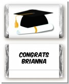 Graduation Cap - Personalized Graduation Party Mini Candy Bar Wrappers