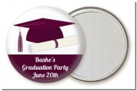 Graduation Cap Purple - Personalized Graduation Party Pocket Mirror Favors