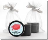 Graduation Cap Red - Graduation Party Black Candle Tin Favors
