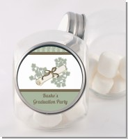 Graduation Diploma - Personalized Graduation Party Candy Jar