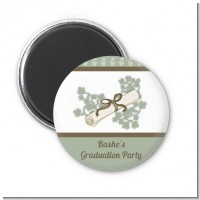 Graduation Diploma - Personalized Graduation Party Magnet Favors