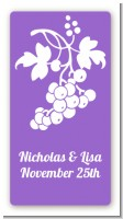Grapes - Custom Rectangle Bridal Shower Sticker/Labels