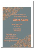 Grey & Orange - Bridal Shower Petite Invitations