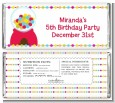 Gumball - Personalized Birthday Party Candy Bar Wrappers thumbnail