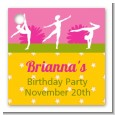 Gymnastics - Personalized Birthday Party Card Stock Favor Tags thumbnail