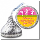 Gymnastics - Hershey Kiss Birthday Party Sticker Labels