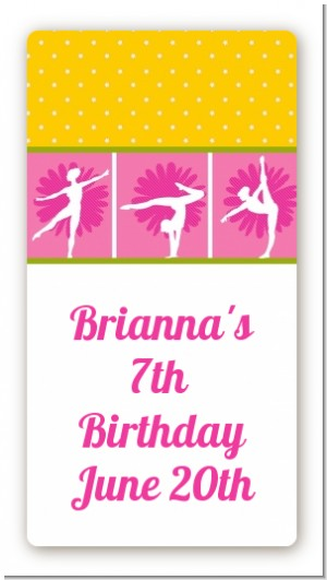 Gymnastics - Custom Rectangle Birthday Party Sticker/Labels