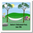 Hammock - Personalized Retirement Party Card Stock Favor Tags thumbnail