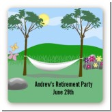 Hammock - Square Personalized Retirement Party Sticker Labels