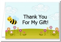 Happy Bee Day - Birthday Party Thank You Cards