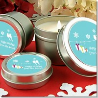 Happy Holidays on a String - Christmas Candle Favors