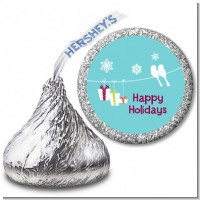 Happy Holidays on a String - Hershey Kiss Christmas Sticker Labels