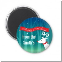 Happy Holidays Reindeer - Personalized Christmas Magnet Favors