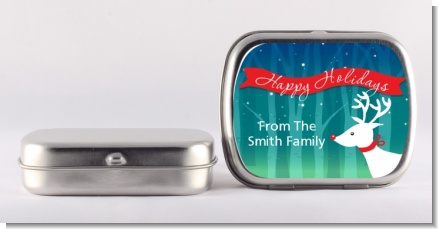 Happy Holidays Reindeer - Personalized Christmas Mint Tins
