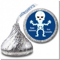 Happy Skeleton - Hershey Kiss Halloween Sticker Labels
