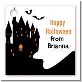Haunted House - Personalized Halloween Card Stock Favor Tags