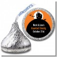 Haunted House - Hershey Kiss Halloween Sticker Labels thumbnail