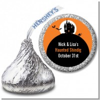 Haunted House - Hershey Kiss Halloween Sticker Labels