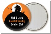 Haunted House - Personalized Halloween Pocket Mirror Favors
